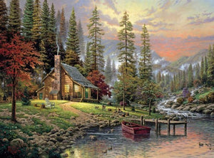 DIY-DIAMOND PAINTING/PAINT WITH DIAMONDS-CABIN IN THE WOODS
