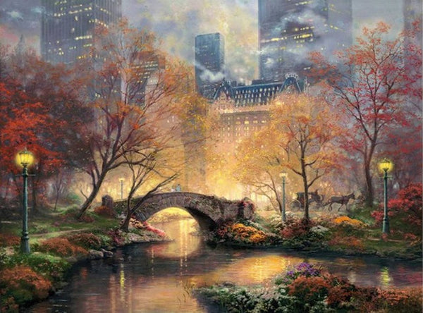 DIY-DIAMOND PAINTING/PAINT WITH DIAMONDS-CENTRAL PARK