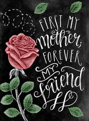 DIY-DIAMOND PAINTING/PAINT WITH DIAMONDS-FIRST MY MOTHER FOREVER MY FRIEND