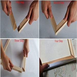 DIY WOODEN CANVAS STRETCHER