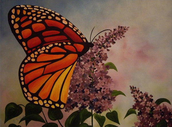 DIY-DIAMOND PAINTING/PAINT WITH DIAMONDS-BUTTERFLY