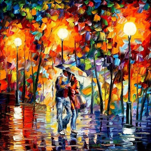 DIY-DIAMOND PAINTING/PAINT WITH DIAMONDS-LOVERS' WALK