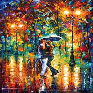 DIY-DIAMOND PAINTING/PAINT WITH DIAMONDS-RAIN KISS