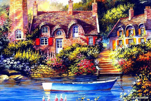 DIY-DIAMOND PAINTING/PAINT WITH DIAMONDS-HISTORIC RIVER HOUSE
