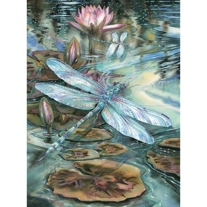 DIY-DIAMOND PAINTING/PAINT WITH DIAMONDS-DRAGONFLY