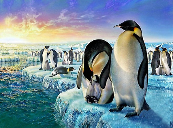 DIY-DIAMOND PAINTING/PAINT WITH DIAMONDS-PENGUINS
