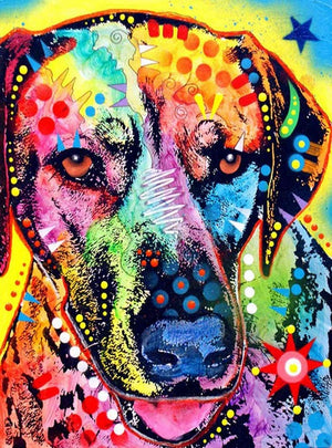 DIY-DIAMOND PAINTING/PAINT WITH DIAMONDS-RAINBOW PUP