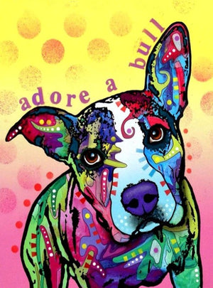 DIY-DIAMOND PAINTING/PAINT WITH DIAMONDS-ADORE A BULL