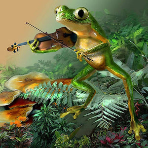 DIY-DIAMOND PAINTING/PAINT WITH DIAMONDS-MUSICAL FROG