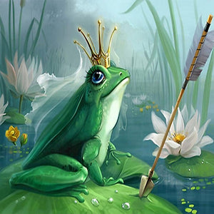 DIY-DIAMOND PAINTING/PAINT WITH DIAMONDS-QUEEN FROG