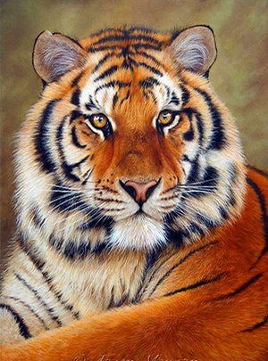 DIY-DIAMOND PAINTING/PAINT WITH DIAMONDS-TIGER PORTRAIT