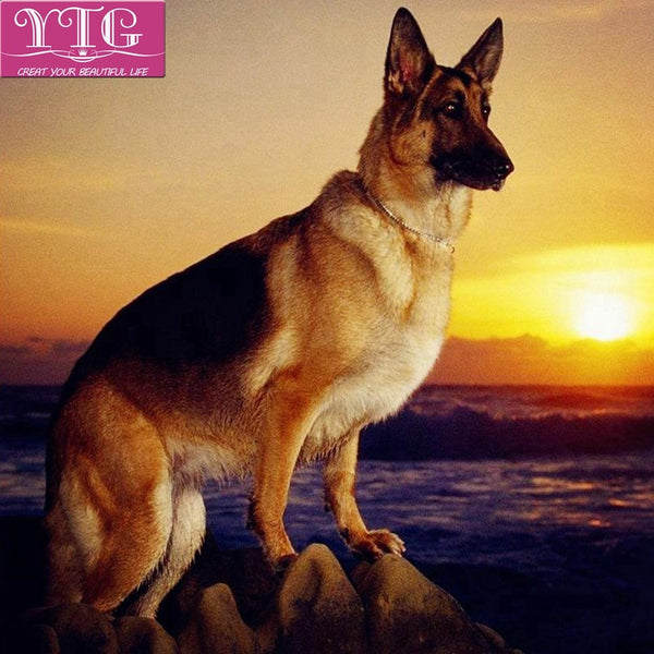German Shepherd Diamond Painting