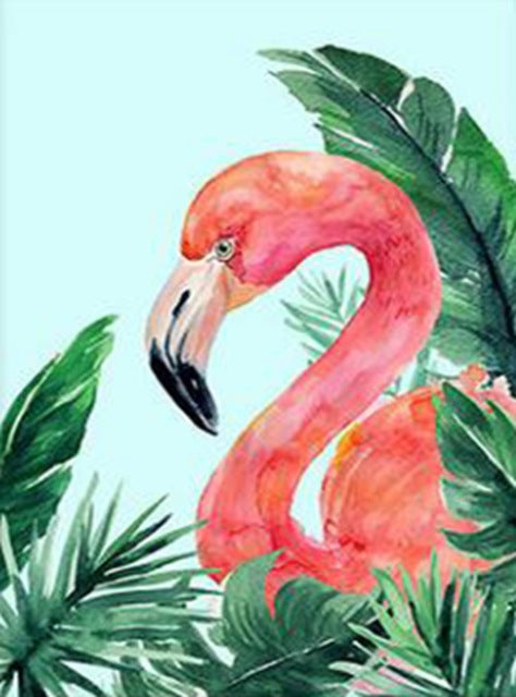 DIY-DIAMOND PAINTING/PAINT WITH DIAMONDS-FLAMINGO