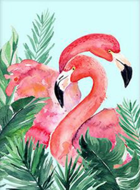 DIY-DIAMOND PAINTING/PAINT WITH DIAMONDS-FLAMINGOS