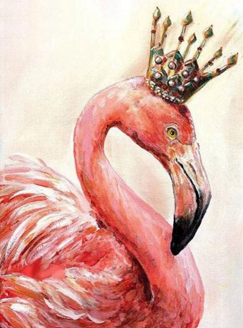 DIY-DIAMOND PAINTING/PAINT WITH DIAMONDS-ROYAL FLAMINGO