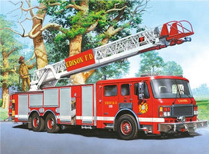 DIY-DIAMOND PAINTING/PAINT WITH DIAMONDS-FIRE ENGINE