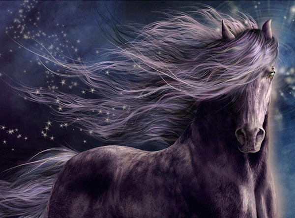 DIY-DIAMOND PAINTING/PAINT WITH DIAMONDS-BLACK STALLION