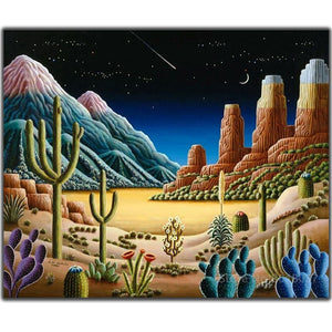 DIY-DIAMOND PAINTING/PAINT WITH DIAMONDS-DESERT AT NIGHT