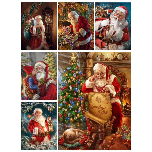 DIY-DIAMOND PAINTING/PAINT WITH DIAMONDS-SANTA CLAUS