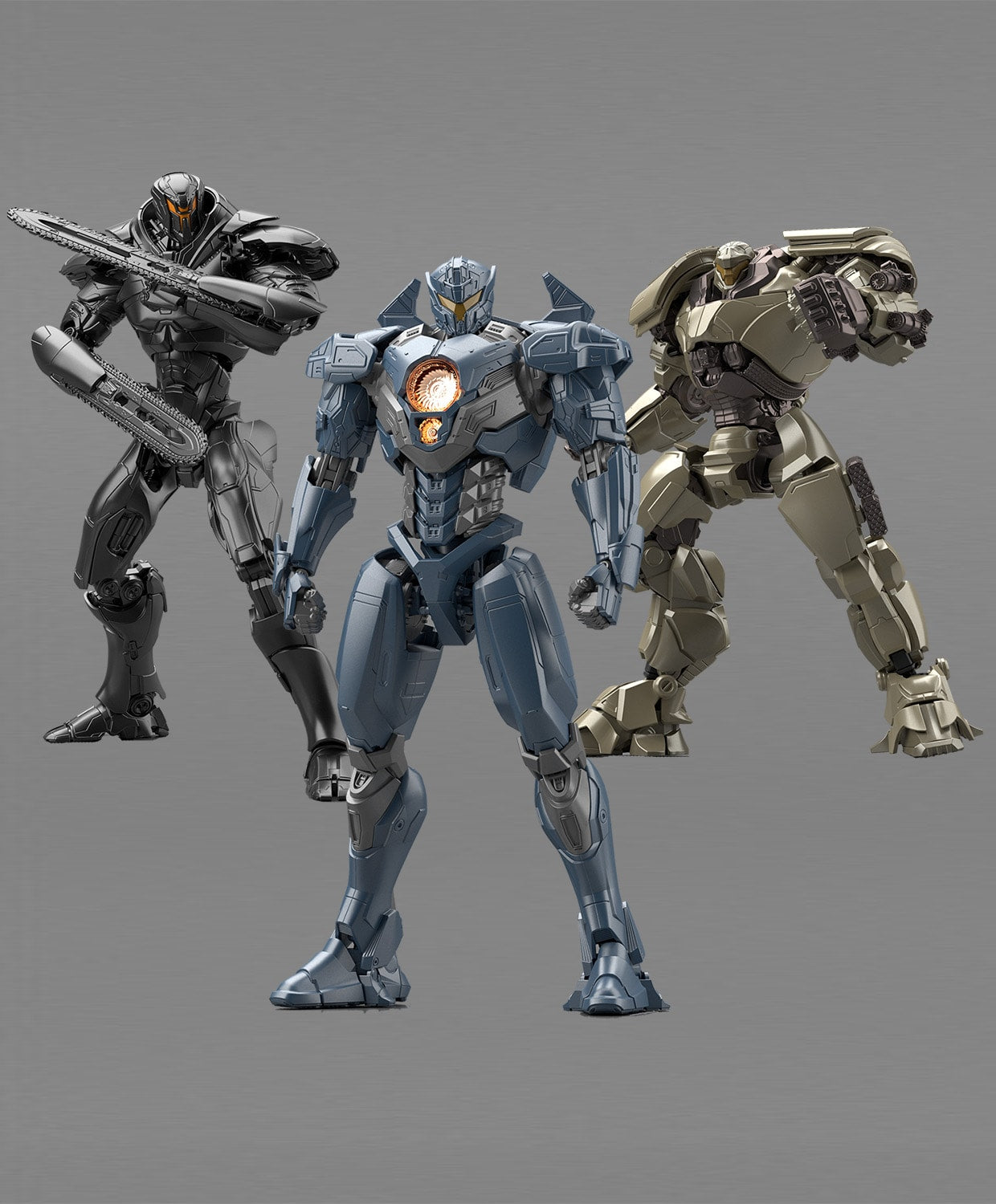 bandai hg jaeger action figure model kits complete set metallic