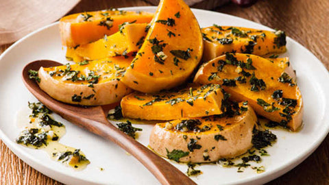 Roasted Butternut squash with hemp