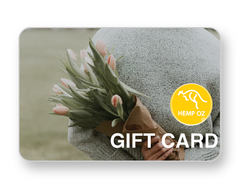 Hemp Oz Gift card, Hemp products, Hemp oil, Soothing teas, Hemp infused water, Hemp Kombucha, Vegan protein, Vegan foods