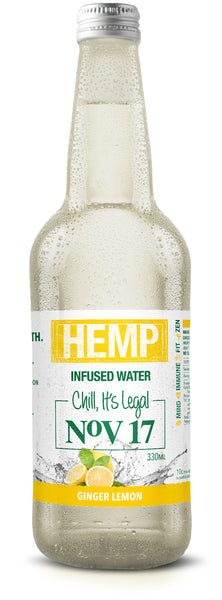 Hemp Infused Spring Water (12 bottles)