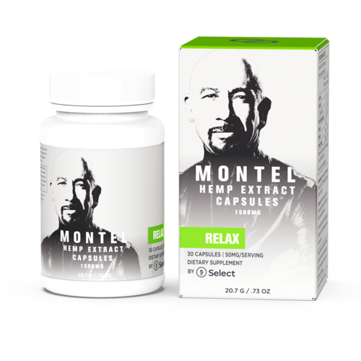 Montel by Select 1500mg Relax Capsules - CBD Hemp Store, The #1 Trusted Source for CBD Oil, Vape Oil, CBD Edibles, CBD Lotions