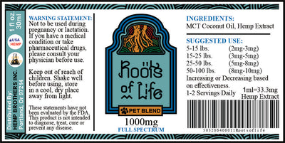 Roots of Life Pet Blend 1000mg Tincture