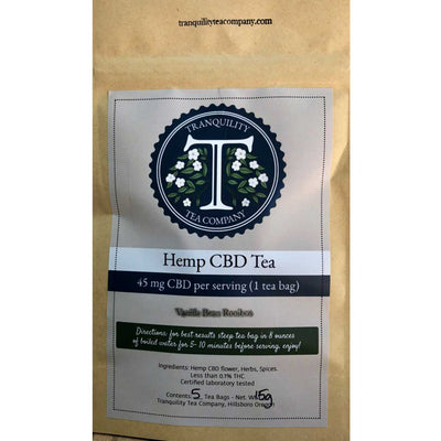 Tranquility Tea Company 45mg Tea Bags (5 Pack) - CBD Hemp Store, The #1 Trusted Source for CBD Oil, Vape Oil, CBD Edibles, CBD Lotions