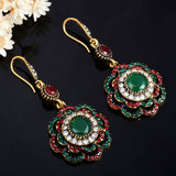 Joyme Drop Earrings Ethnic Long Clip Crystal Vintage Party Cuff Wedding Bohemian Earrings For Women Collier Femme Oorbellen - Shopper Bytes