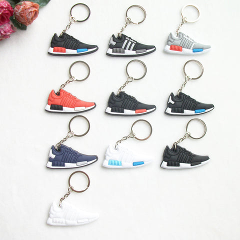 Mini Silicone NMD Keychain Bag Charm Woman Men Kids Key Ring Gifts Sneaker Key Holder Pendant Accessories Jordan Shoes Key Chain - Shopper Bytes