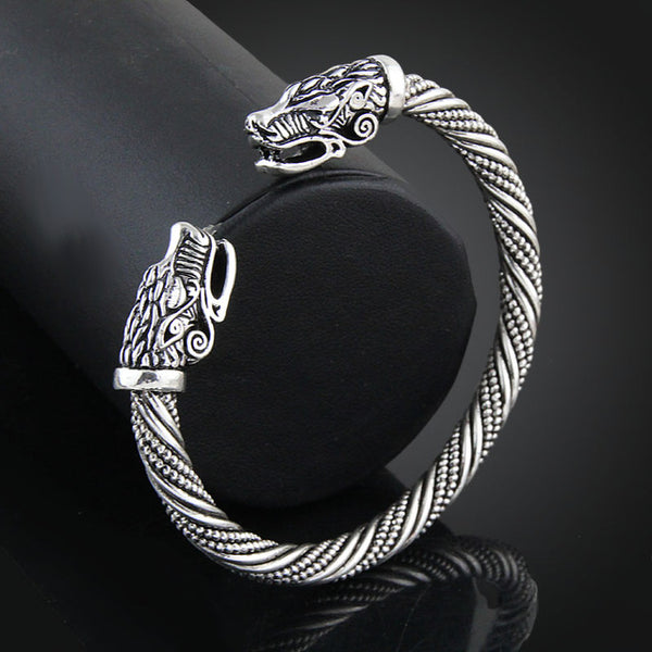 LAKONE Teen Wolf Head Bracelet Indian Jewelry Fashion Accessories Viking Bracelet Men Wristband Cuff Bracelets For Women Bangles - Shopper Bytes
