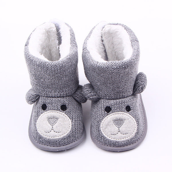 TongYouYuan Winter Warm Baby Boy Shoes First Walkers Knitted Sweaters Boots Booty Crib Babe Girls Toddler Boy Shoe For 0-1 Year - Shopper Bytes