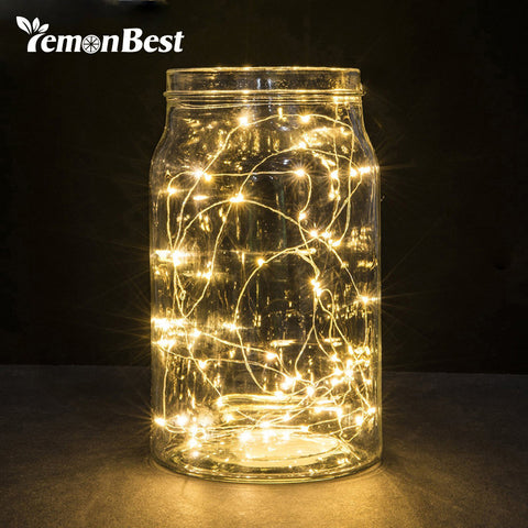 20 Leds Christmas Lights Indoor 2M String LED Copper Wire Fairy Lights for Festival Wedding Party Home Decoration Lamp - Shopper Bytes