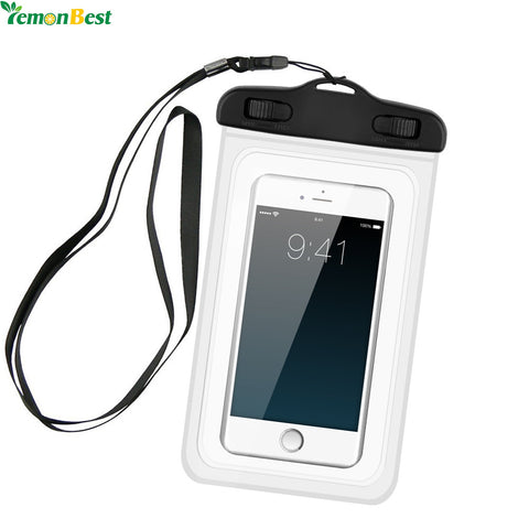 Waterproof Pouch Mobile Phone Storage Box Bags Full Touch Underwater Dry Case Cover For Phone Money Card - Shopper Bytes