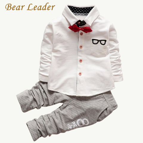Bear Leader Baby Clothing Sets Kids Clothes Autumn Baby Sets Kids Long Sleeve Sports Suits Bow Tie T-shirts + Pants Boys Clothes - Shopper Bytes