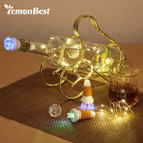 100CM USB 10-LED Bottle Light Copper Wire String Lights Rechargeable Lamp Christmas Decoration for Home Fairy Valentines Wedding - Shopper Bytes