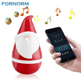 FORNORM Wireless Bluetooth Speaker with Cute Portable Stereo Santa Claus Ttumbler Speaker Christmas Gifts for Kids Party Friends - Shopper Bytes