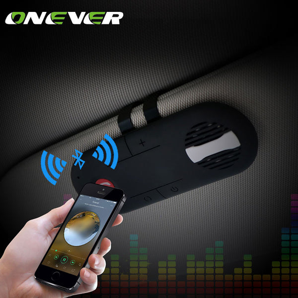 Onever Universal Wireless Car Bluetooth Speakerphone Hands-free Car Kit Sunvisor Clip Speaker Player usb Car Charger Speaker - Shopper Bytes