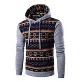 2017 Hoodies Mens Hombre Hip Hop Male Brand Hoodie Fashion Geometric Print Sweatshirt Men Slim Fit Men Hoody XXL EYRV - Shopper Bytes