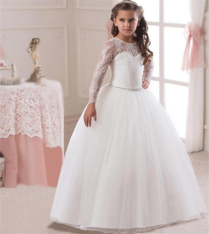 Ai Meng Baby Girl Wedding Braidal Dress Children Brand Clothing Girl Dresses Kids Long Evening Party Gown Designs For Teenager - Shopper Bytes