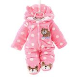 Cute Bear Baby Rompers Winter Thicken Baby Clothing 3 Colors - Shopper Bytes