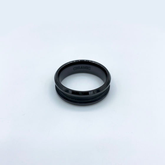 5 Pack - Black Ceramic Ring Blank