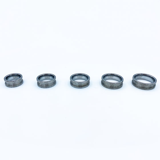 5 Pack - Hammered Tungsten Ring Blank