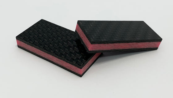 Glowing Carbon Fiber - One Strip Red Lava