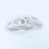 5 Pack - White Ceramic Ring Blank