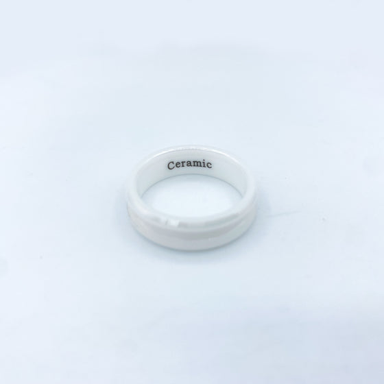 White Ceramic Ring Blank