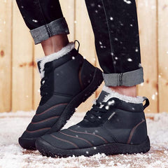 Men's Water-resistant Cloth Letter High Top Lace Up Casual Boots