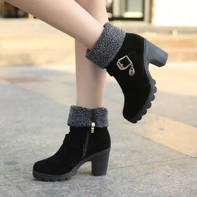 Women's Thick Hell Warm Short Boots